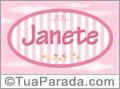 Nomes decorativo de bebê Janete, para imprimir