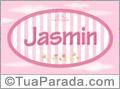 Nomes decorativo de bebê Jasmin, para imprimir