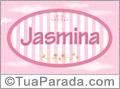 Nomes decorativo de bebê Jasmina, para imprimir