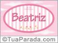 Nomes decorativo de bebê Beatriz, para imprimir