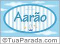 Nomes decorativo de bebê Aarão, para imprimir