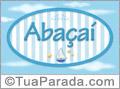 Nomes decorativo de bebê Abaçaí, para imprimir