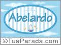 Nomes decorativo de bebê Abelardo, para imprimir