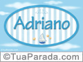Nomes decorativo de bebê Adriano, para imprimir