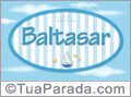 Nomes decorativo de bebê Baltasar, para imprimir