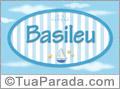 Nomes decorativo de bebê Basileu, para imprimir