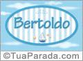 Nomes decorativo de bebê Bertoldo, para imprimir