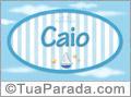 Nomes decorativo de bebê Caio, para imprimir