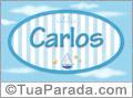 Nomes decorativo de bebê Carlos, para imprimir