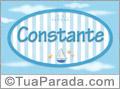 Nomes decorativo de bebê Constante, para imprimir