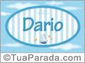 Nomes decorativo de bebê Darío, para imprimir