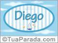 Nomes decorativo de bebê Diego, para imprimir