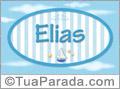 Nomes decorativo de bebê Elias, para imprimir