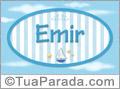 Nomes decorativo de bebê Emir, para imprimir