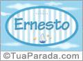 Nomes decorativo de bebê Ernesto, para imprimir