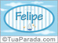 Nomes decorativo de bebê Felipe, para imprimir