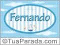 Nomes decorativo de bebê Fernando, para imprimir
