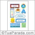 Nomes Aarão en stickers