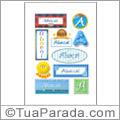 Nomes Abaçaí en stickers