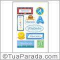 Nomes Abelardo en stickers
