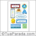 Nomes Adriano en stickers