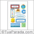 Nomes Caetano en stickers