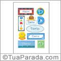 Nomes Darío en stickers
