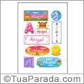 Nomes Abigail en stickers