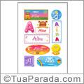Nomes Alba en stickers