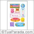 Nomes Belinda en stickers