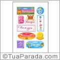 Nomes Benigna en stickers