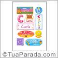 Nomes Carla en stickers