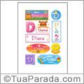 Nomes Diana en stickers