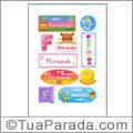 Nomes Fernanda en stickers