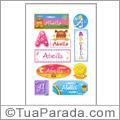 Nomes Abella en stickers