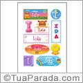 Nomes Ida en stickers