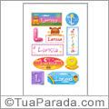 Nomes Larissa en stickers