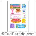 Nomes Idalia en stickers
