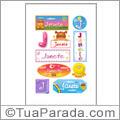 Nomes Janete en stickers