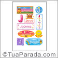Nomes Jasmina en stickers