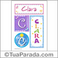 Nomes e iniciales, Clara