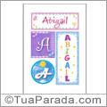Nomes Abigail para imprimir em cartazes