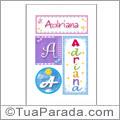 Nomes Adriana para imprimir em cartazes