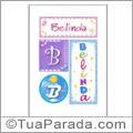 Nomes Belinda para imprimir em cartazes