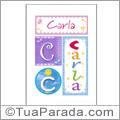 Nomes Carla para imprimir em cartazes