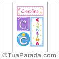 Nomes Carolina para imprimir em cartazes