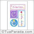 Nomes Clarissa para imprimir em cartazes