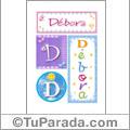 Nomes Débora para imprimir em cartazes
