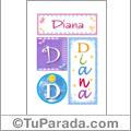 Nomes Diana para imprimir em cartazes