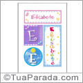 Nomes Elisabete para imprimir em cartazes